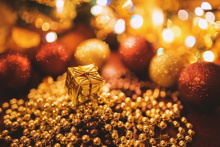 Tiny Gold Christmas Gift