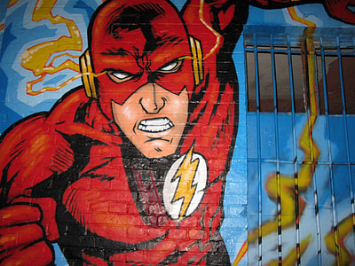 The Flash printed wall