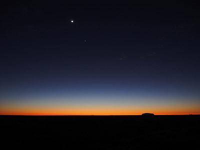 dusk with star