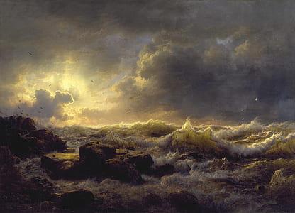 ocean wave painting