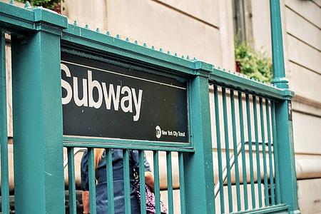 green metal Subway rail