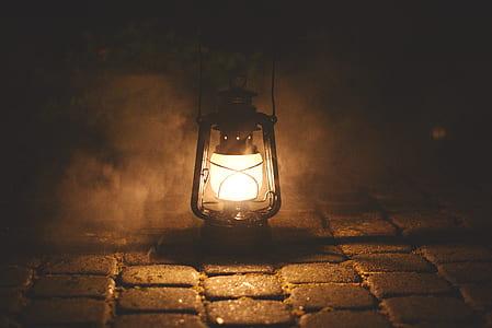 black lantern lamp