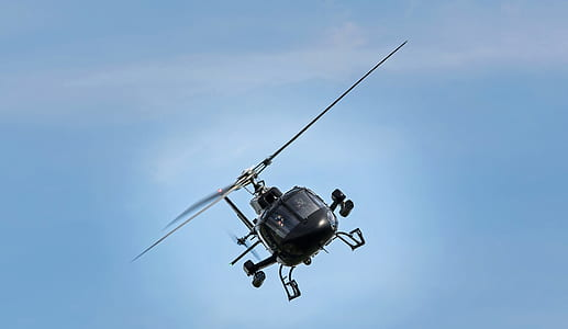 Helicopter on Side Ways