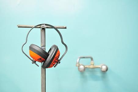 Orange and Gray Earmuffs