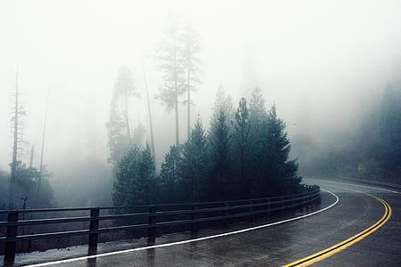 black concrete road photorgraphy