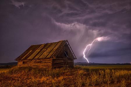 lightning near house