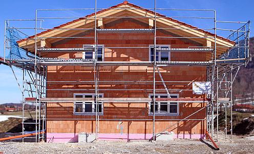 brown concrete house