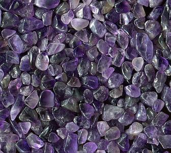 photo of purple gemstones