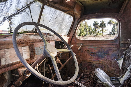 interior photo of classic brown vehicle