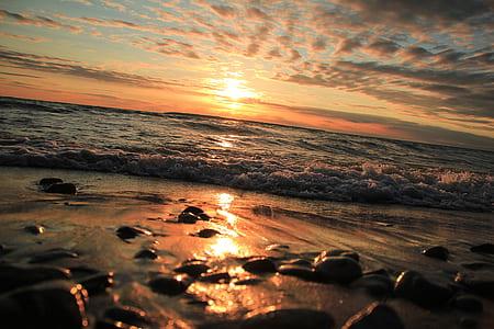 Ocean Taken Photo during Sunset