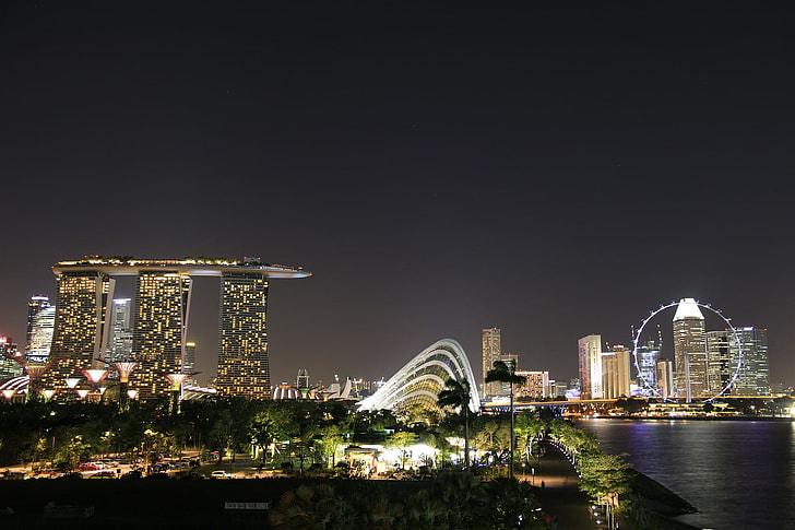 marina bay sands at Singapore during nighttime
