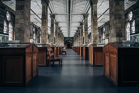 architectural photography of inside a museum