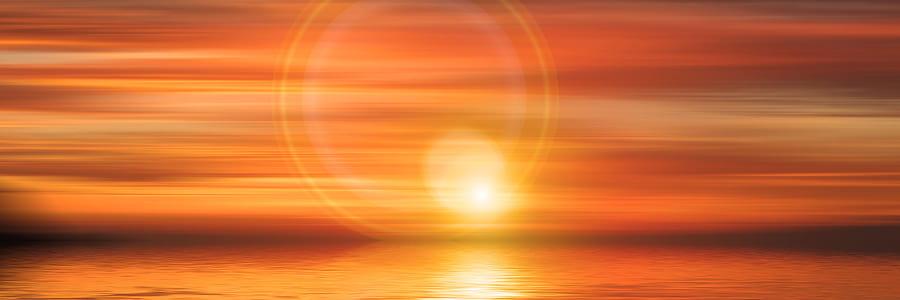 body of water during golden houre