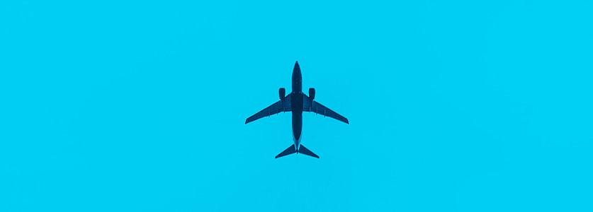 blue plane illustration