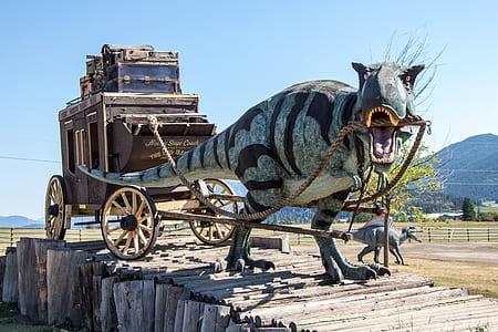 gray dinosaur