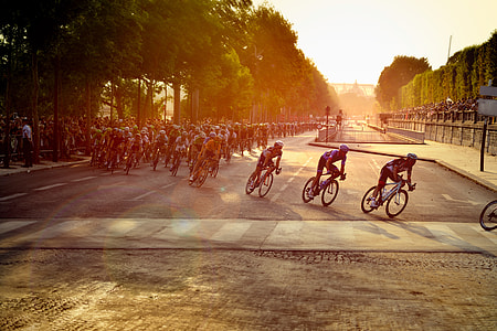 cyclist during a race