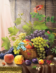 variety of fruit painting