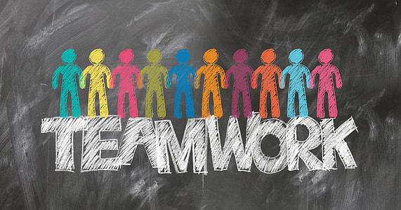 Teamwork signage
