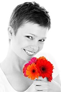 selective photo of red, orange, and purple flowers
