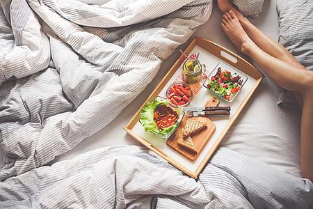 food dish on tray