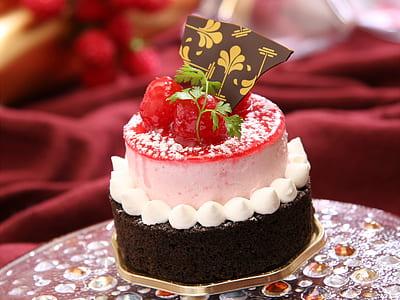 2-tier raspberry icing cake