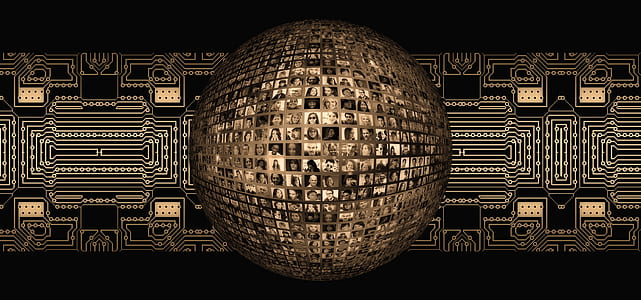 brown and black disco ball wallpaper