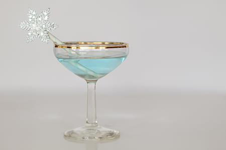 clear glass martini glass with white background