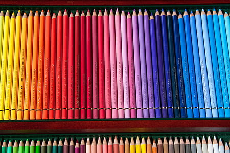 assorted-color pencil lot