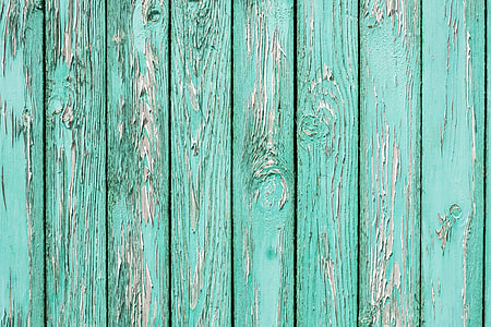 teal and white wood planks