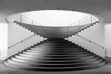 photo of conic staircase