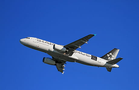 White Airplane Under Blue Sky at Daytime
