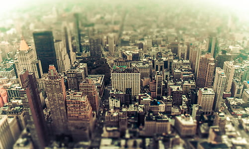 areal photography of high rise buildings