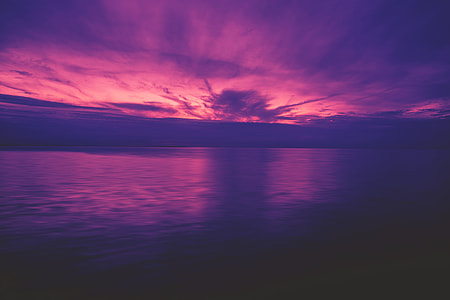 Ocean sunset with vibrant colours