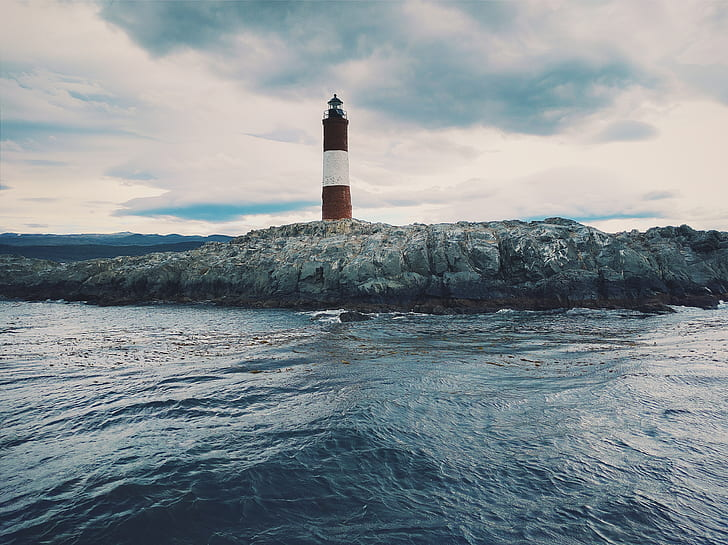 brown and white lighthouse