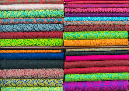 assorted stack of textiles