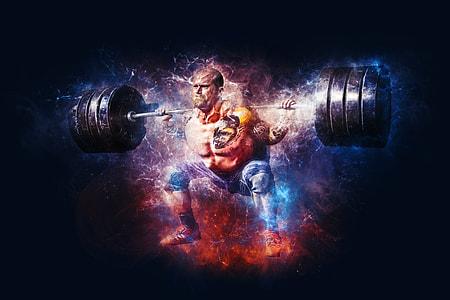 weight lifter digital wallpaper
