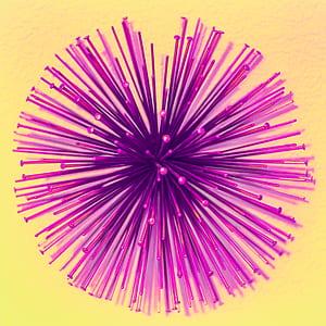 Purple Burst Digital Wallpaper