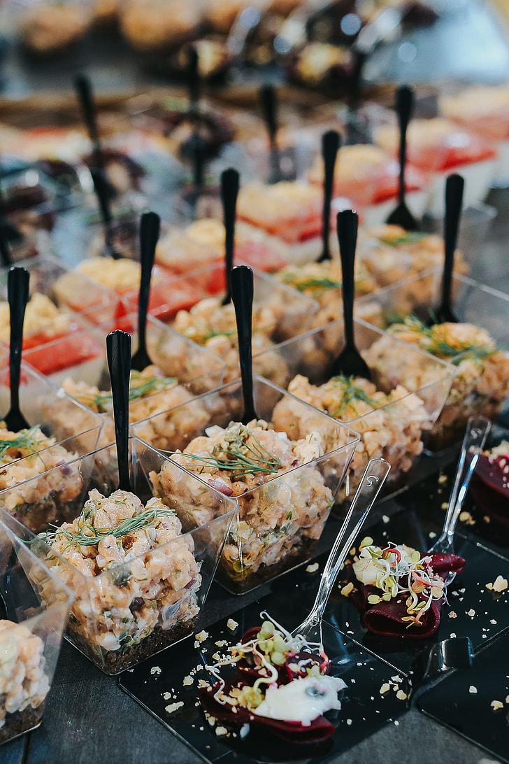 Elegant buffet with food
