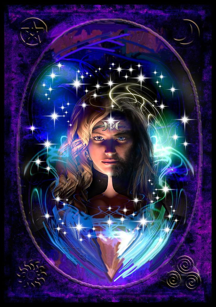 female character digital wallpaper