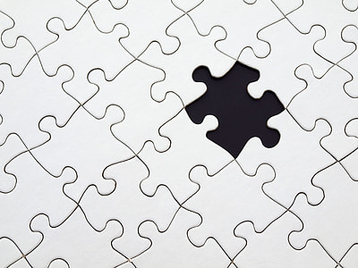puzzle with 1 missing piece