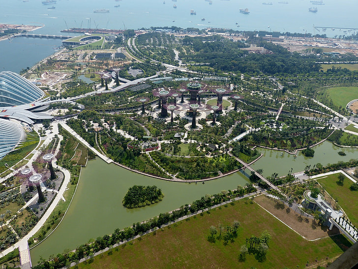photo of city aerial view