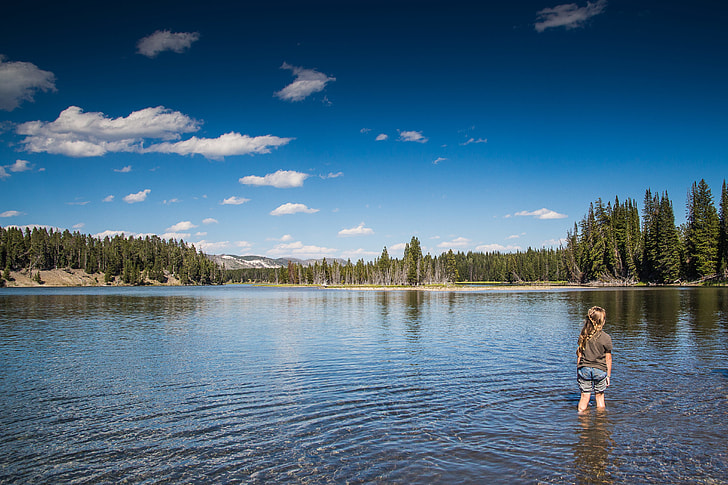 Little Kid in Lake in the USA