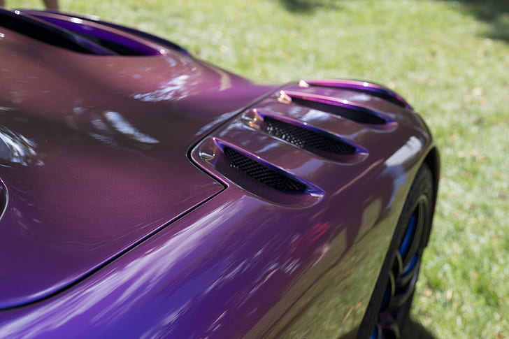Purple Sport Car during Daytime