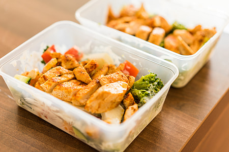 Box Diet Fitness Meal Lunch Grilled Chicken Steak