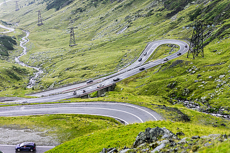 Rainy Transfagarasan Road in Romania