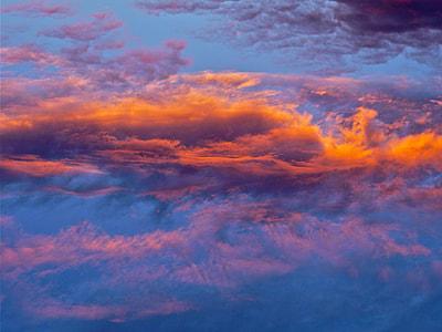 orange cloudy sky photo