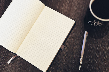 Notepad Pen Coffee Desk