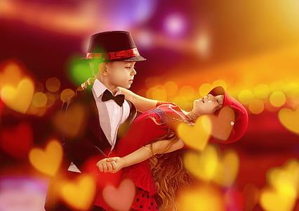 girl and boy dancing tango