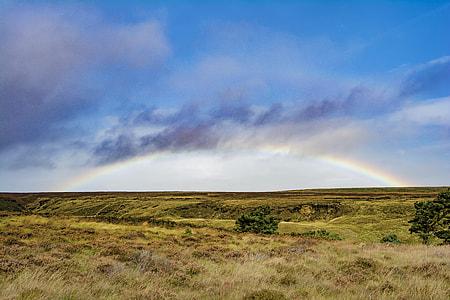 landscape photography of rainbow