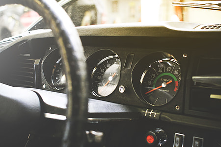 Old veteran Car Dashboard